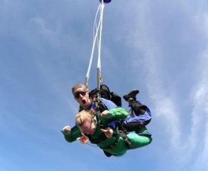 Working as a tandem skydiving instructor